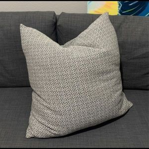 Other - 23x23 Light Gray and Blue Decor Pillow Throw Case